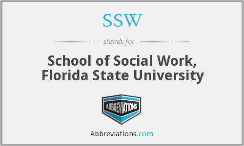 SSW - School of Social Work, Florida State University