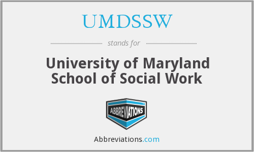 What does UMDSSW stand for?