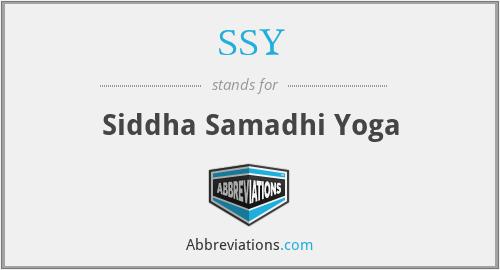 SSY - Siddha Samadhi Yoga