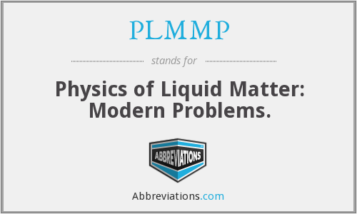 What does PLMMP stand for?