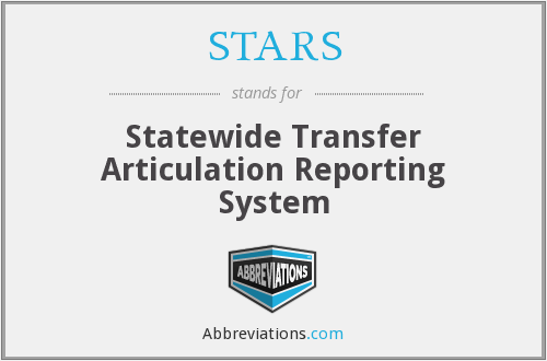 STARS - Statewide Transfer Articulation Reporting System