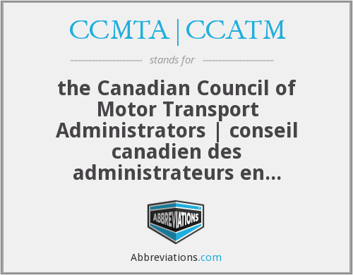 What does CCMTA|CCATM stand for?