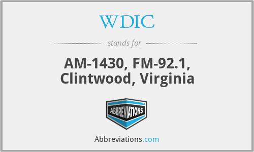 WDIC - AM-1430, FM-92.1, Clintwood, Virginia