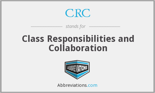 CRC - Class Responsibilities and Collaboration