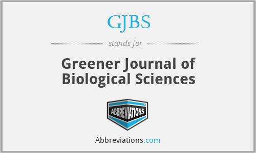 GJBS - Greener Journal of Biological Sciences