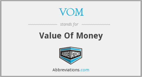 VOM - Value Of Money