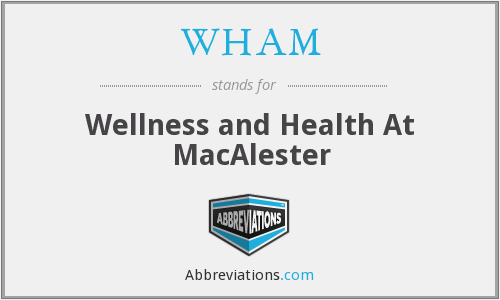 WHAM - Wellness and Health At MacAlester