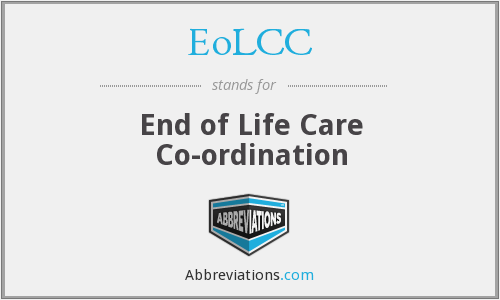 EoLCC - End of Life Care Co-ordination