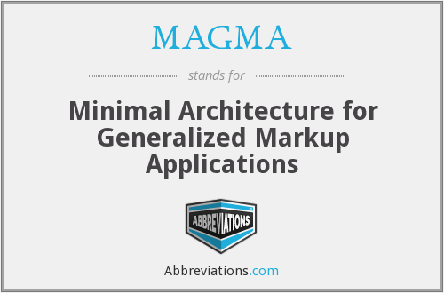MAGMA - Minimal Architecture for Generalized Markup Applications