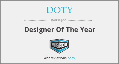 DOTY - Designer Of The Year