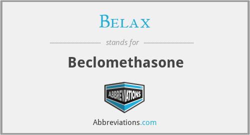 Belax - Beclomethasone