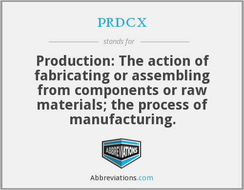 What does PRDCX stand for?