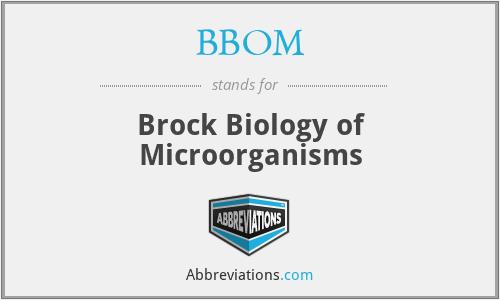 BBOM - Brock Biology of Microorganisms