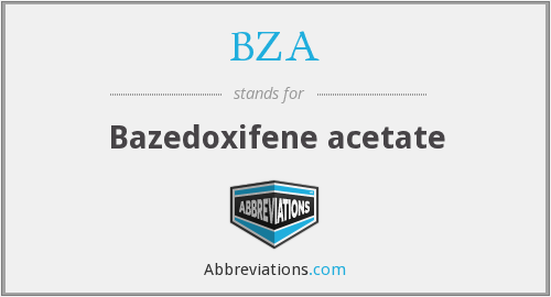 BZA - Bazedoxifene acetate