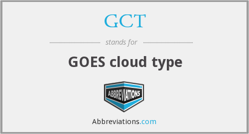What does GCT stand for?