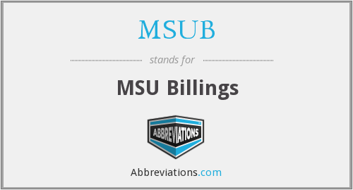 What does MSUB stand for?