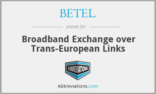 BETEL - Broadband Exchange over Trans-European Links