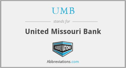 UMB - United Missouri Bank