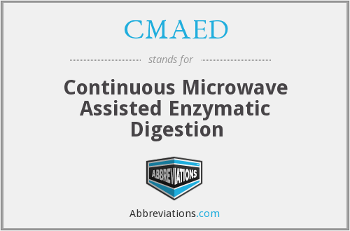 CMAED - Continuous Microwave Assisted Enzymatic Digestion