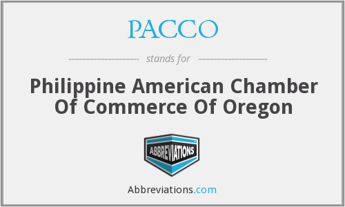 PACCO - Philippine American Chamber Of Commerce Of Oregon