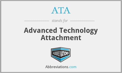 ATA - Advanced Technology Attachment