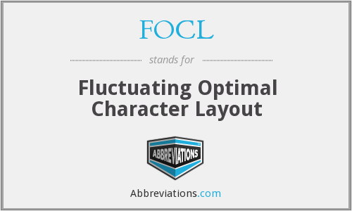FOCL - Fluctuating Optimal Character Layout