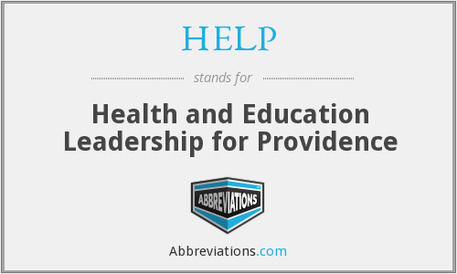 HELP - Health and Education Leadership for Providence