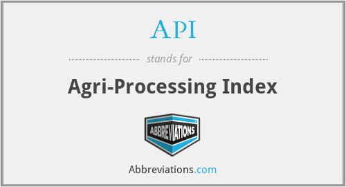 API - Agri-Processing Index
