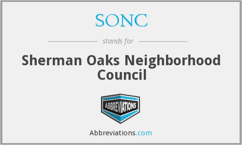 SONC - Sherman Oaks Neighborhood Council