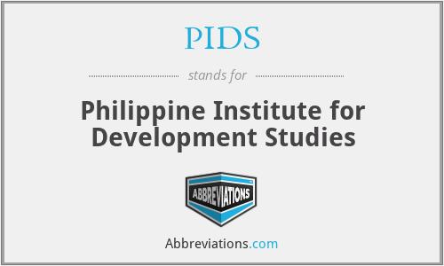 PIDS - Philippine Institute for Development Studies
