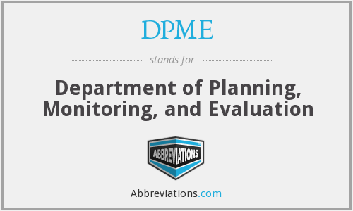 What does DPME stand for?