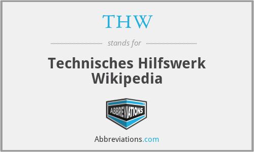 THW - Technisches Hilfswerk Wikipedia