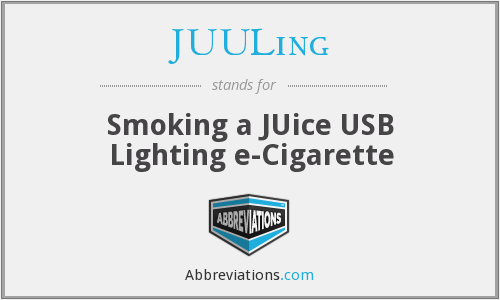 What does JUULING stand for?