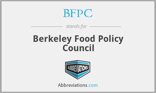 BFPC - Berkeley Food Policy Council