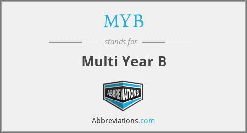 MYB - Multi Year B