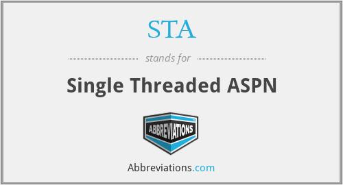 STA - Single Threaded ASPN