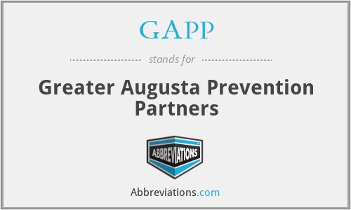 GAPP - Greater Augusta Prevention Partners