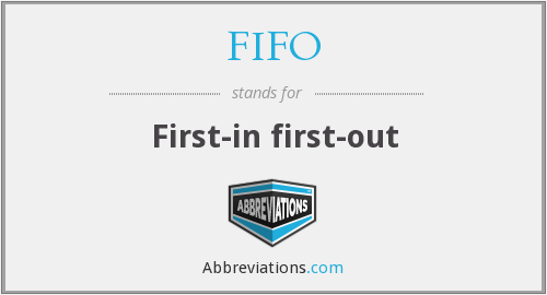 FIFO - First-in first-out