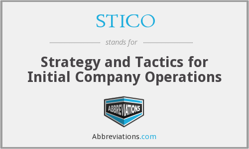 What does STICO stand for?
