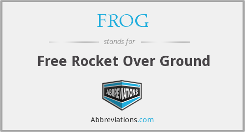 FROG - Free Rocket Over Ground