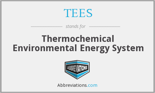 TEES - Thermochemical Environmental Energy System