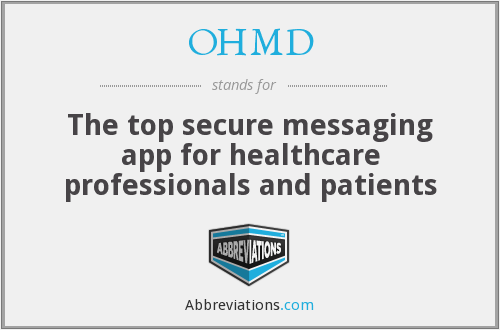 OHMD - The top secure messaging app for healthcare professionals and patients