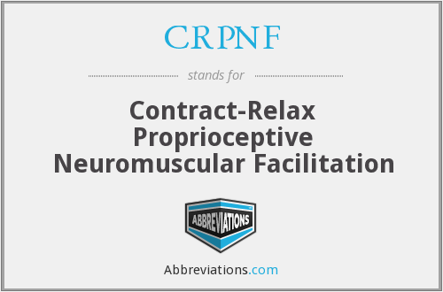 CRPNF - Contract-Relax Proprioceptive Neuromuscular Facilitation