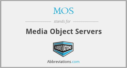 MOS - Media Object Servers