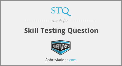STQ - Skill Testing Question