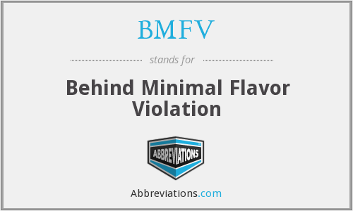 What does BMFV stand for?