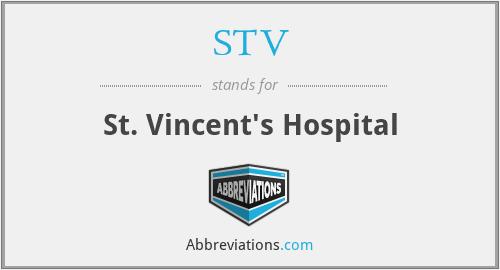 STV - St. Vincent's Hospital