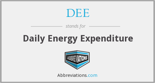 DEE - Daily Energy Expenditure
