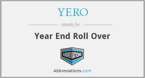 YERO - Year End Roll Over