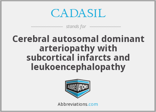 CADASIL - Cerebral autosomal dominant arteriopathy with subcortical infarcts and leukoencephalopathy